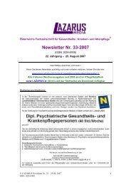 Newsletter Nr. 33-2007 - Nurse-Communication