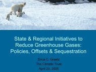 State & Regional Initiatives to Reduce Greenhouse Gases - Water ...