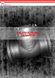 BAF CHECK VALVES CATALOGUE