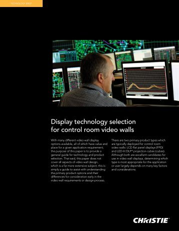 Projection or flat panels for videowalls? - Christie Digital Systems