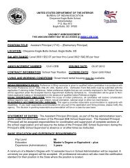 Cheyenne-Eagle Butte School - Bureau of Indian Education