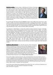 Plenary Speaker Biographies - Regional Studies Association
