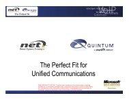 The Perfect Fit for UC(NET-Quintum) - UCStrategies.com