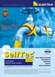 SelfTec anti-frost protection - leaflet - Elektra