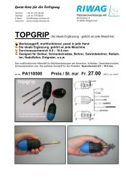 topgrip - Riwag Präzisionswerkzeuge AG