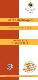 Veranstaltungen 2012/13.pdf - Wiener Krebshilfe