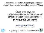Etude multi-pays sur l'approvisionnement en médicaments ... - ReMeD