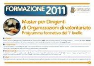 programma Master 1° livello - CSV Marche