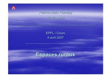 Espaces ruraux - EPFL