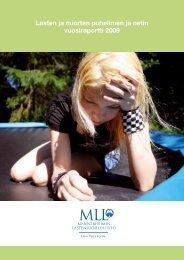 Lasten ja nuorten puhelimen ja netin vuosiraportti 2009 (pdf)