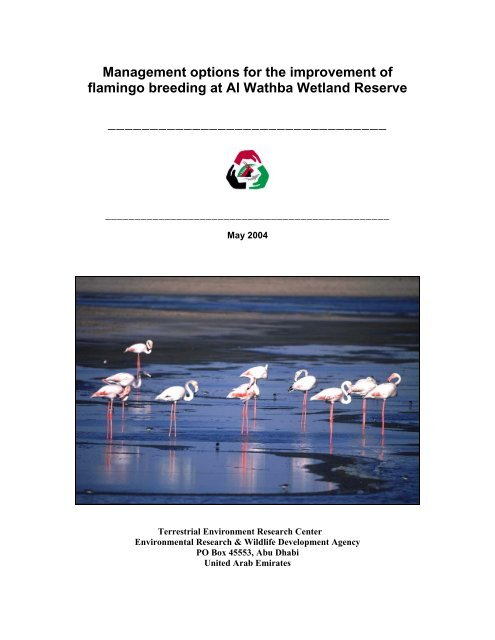 Management options for the improvement of flamingo breeding at Al ...