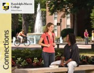 opportunities - Randolph-Macon College