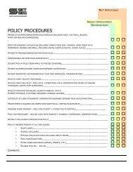 Risk Control Checklist PDF
