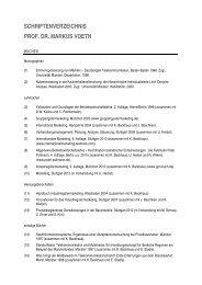 schriftenverzeichnis prof. dr. markus voeth - Universität Hohenheim