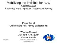 Mobilizing the Invisible for Family Adaptation and Resiliency to the ...