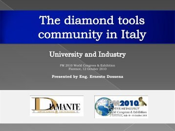 The diamond tools community in Italy