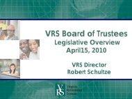 Other VRS Legislation HB 1189/SB 232