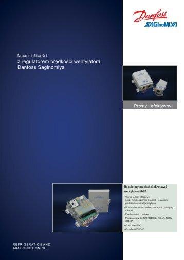 Danfoss regulatory prędkości obrotów wentylatora RGE katalog