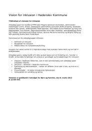 Vision for inklusion i Haderslev Kommune