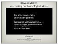 Baryons Matter: Interpreting our Cosmological Model - Harvard ...