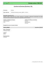 Carrière de Dorénaz (Dorénaz, VS) - admin.ch