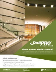 DaliPRO Brochure - Universal Lighting Technologies