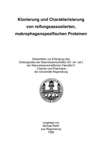 Klonierung und Charakterisierung von reifungsassoziierten ...