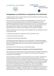 Strategiepapier zur Substitution von Superbenzin durch Bioethanol