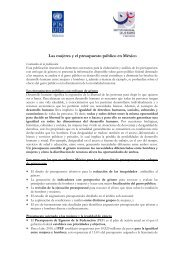 Las Mujeres y El Presupuesto Público en México 153kb (.pdf) - CINU