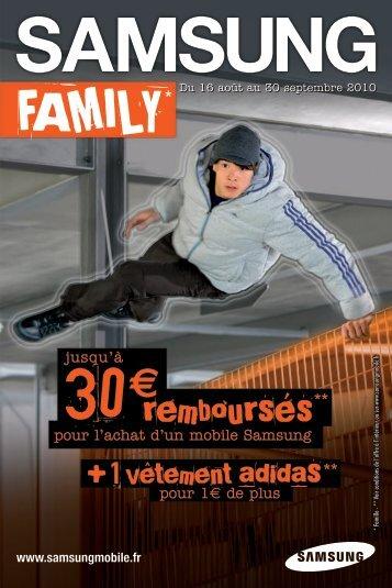 samsung family adidas - Orange mobile