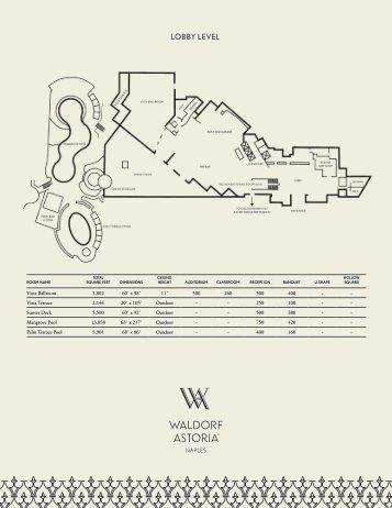 Floor Plans & Capacity Chart - Waldorf Astoria Naples