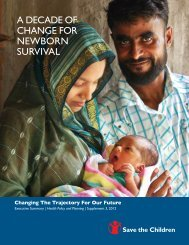A Decade of change for newborn survival - fact cards - Healthy ...
