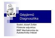 Gépjármű Diagnosztika - Mechatronikai és Autótechnikai Intézet
