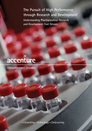 The Pursuit of High Performance through Research and ... - Accenture