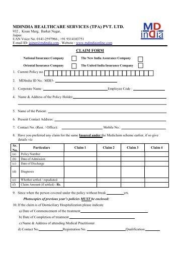 MDINDIA HEALTHCARE SERVICES (TPA) PVT. LTD.