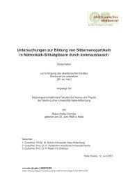 Untersuchungen zur Bildung von Silbernanopartikeln in Natronkalk ...