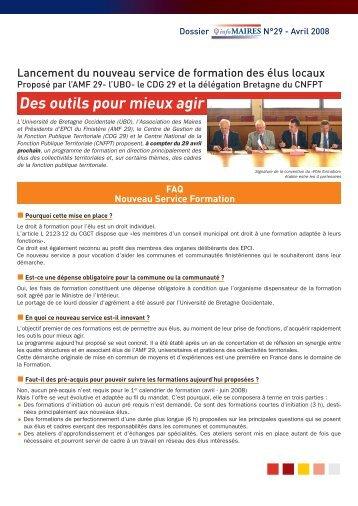 Dossier - Association des Maires du Finistère