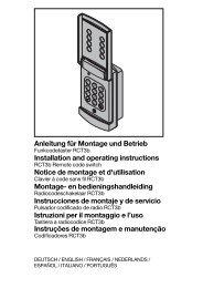 Anleitung für Montage und Betrieb Installation and operating ...