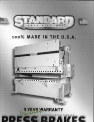 Standard Press Brakes Brochure - Sterling Machinery