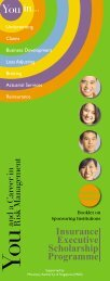 Insurance Executive Scholarship Programme - Singapore College of ...