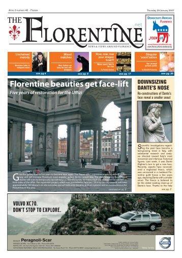 Florentine beauties get face-lift - The Florentine