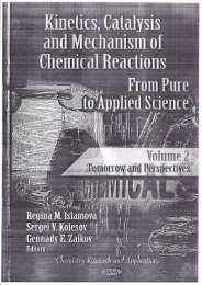 2012 Kinetics, Catalysis and Mechanism of Chemical Reactions ...