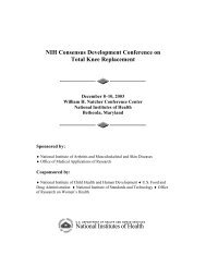 NIH Consensus Development Conference on Total Knee ...