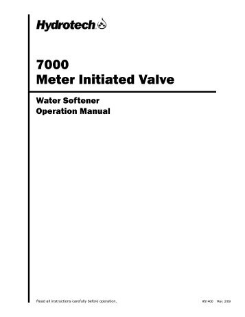 7000 Meter Initiated Valve - Hydrotech