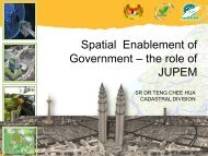 Spatial Enablement of Government – the role of JUPEM - Malaysia ...