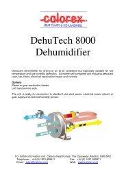 DehuTech 8000 Dehumidifier - Calorex