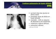 L'œdème pulmonaire de haute altitude - Club des Cardiologues du ...