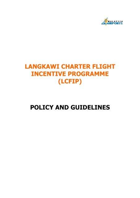 LANGKAWI CHARTER FLIGHT INCENTIVE PROGRAMME (LCFIP ...