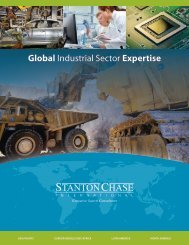 Global Industrial Sector Expertise - Stanton Chase