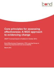 Core principles for assessing effectiveness - Bond